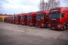 Fahrzeuge Rieback, Seecontainertransporte Saale, Seecontainertransporte Saale