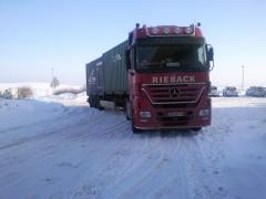 Container, Schnee, LKW Rieback