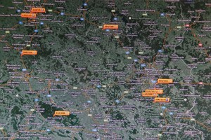 GPS Rieback, Transportorganisation, Karte